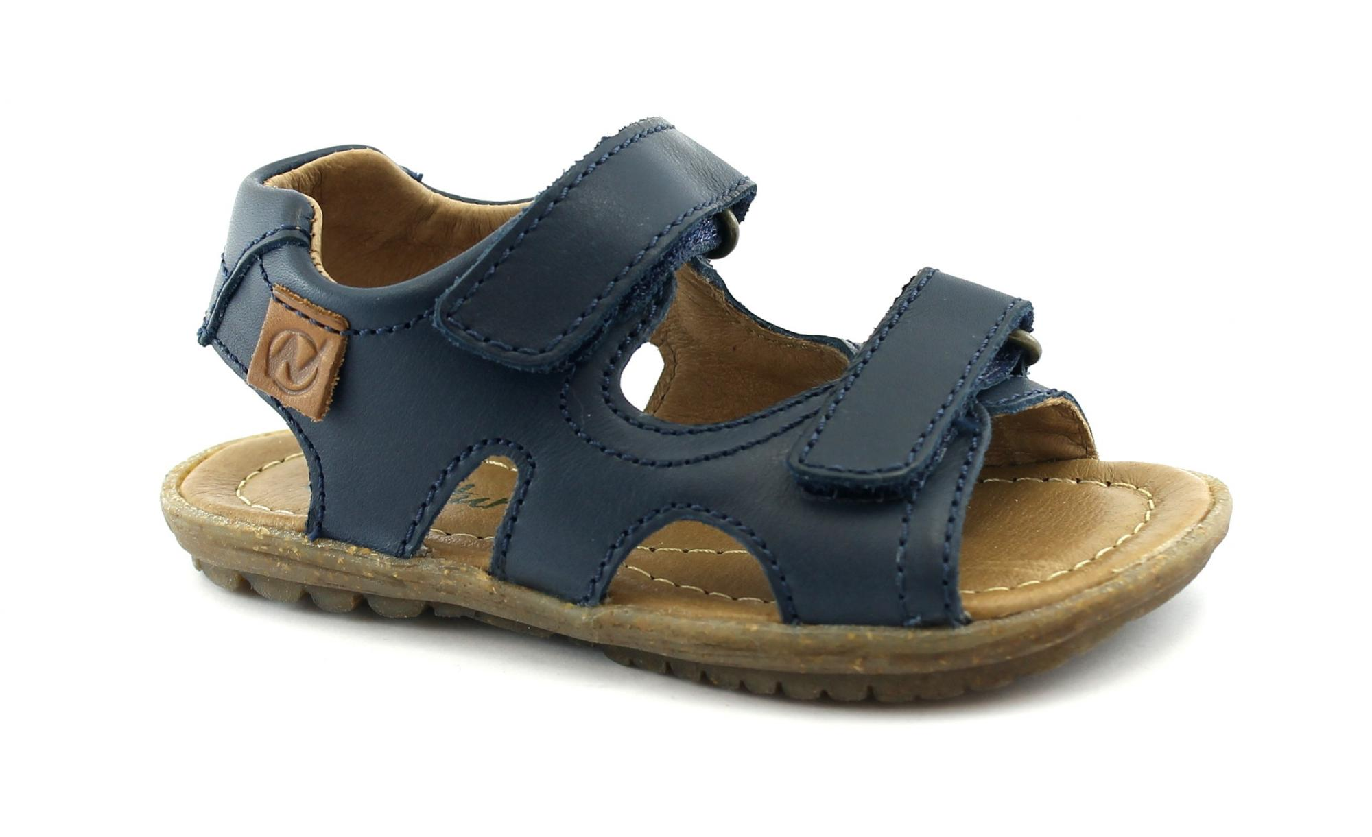 NATURINO SKY 502430 navy blu scarpe sandalo bambino pelle strappi