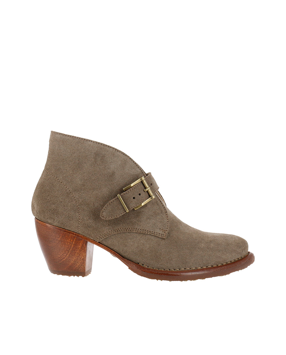Neosens S3099 LUX SUEDE LAND/ MUNSON Ankle Boots With Heel Woman Brown Buckle