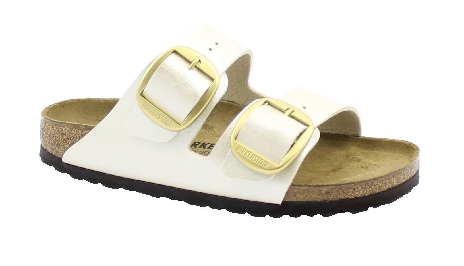BIRKENSTOCK Arizona BIG BUCKLE 1020021 bianca graceful pearl white ciabatte donna fibbie