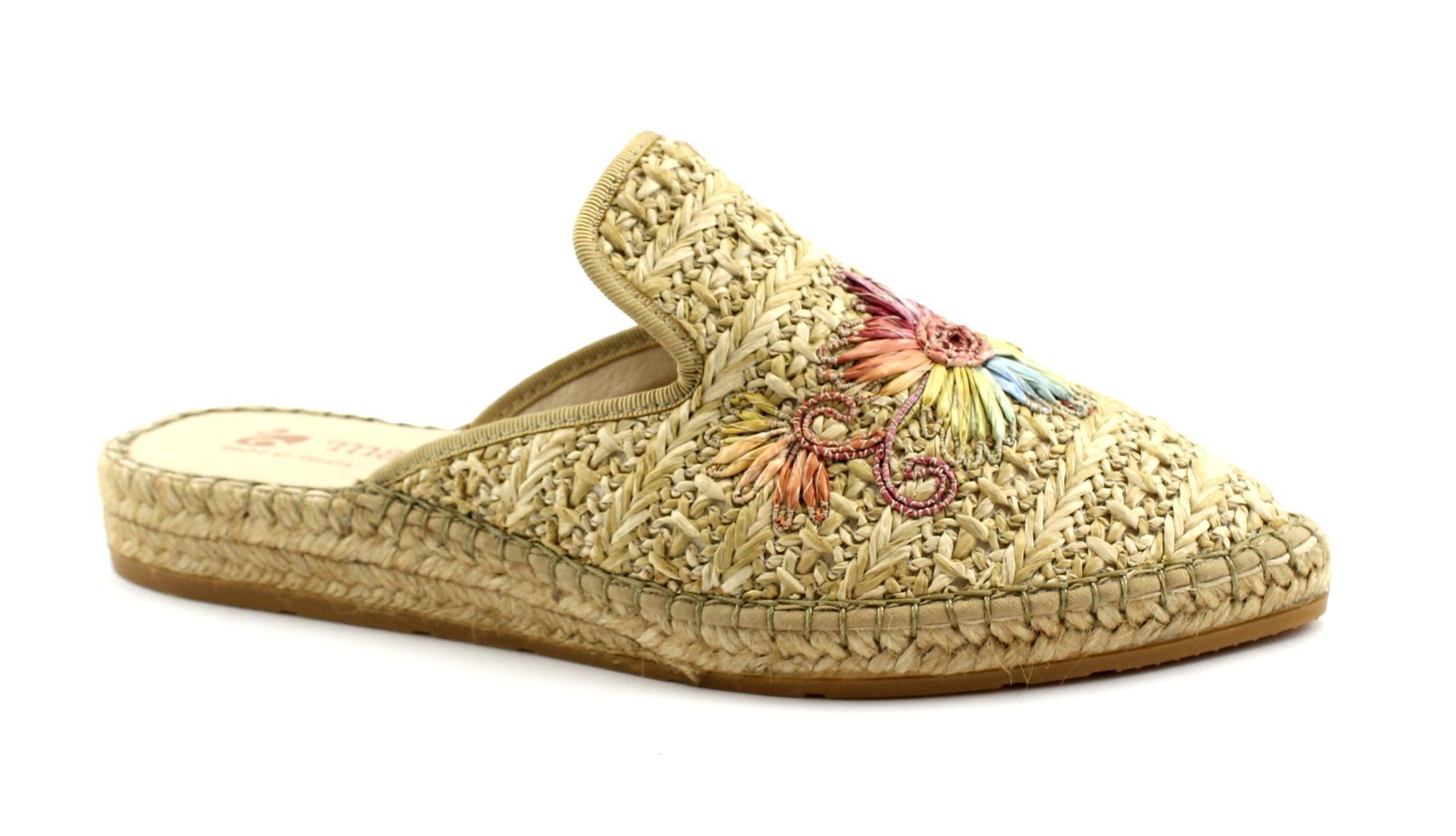 MACARENA IMA30 natural beige scarpe ciabatte donna espadrilles