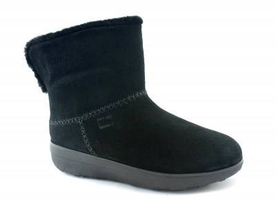 FITFLOP MUKLUK SHORTY Y88-090 all black scarpa donna stivaletto pelo