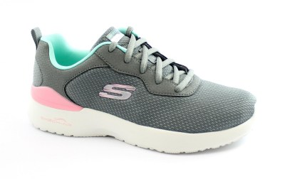 SKECHERS 149346 RADIANT CHOICE gray mnt scarpe donna lacci memory foam