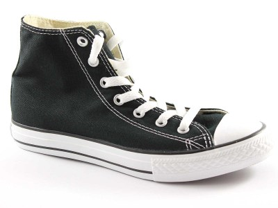 CONVERSE M9160C black nero scarpe sneakers all star  hi canvas ì