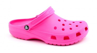 CROCS ROOMY FIT 10001 neon magenta rosa ciabatte zoccoli donna gomma