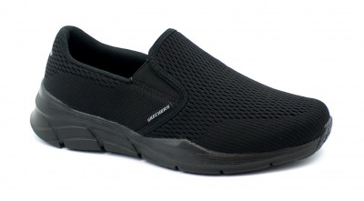 SKECHERS 232016 TRIPLE PLAY black nero scarpe uomo sneakers slip on memory foam