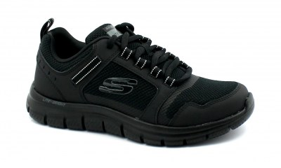 SKECHERS 149023 INFINITE MOTION black nero scarpe donna lacci memory