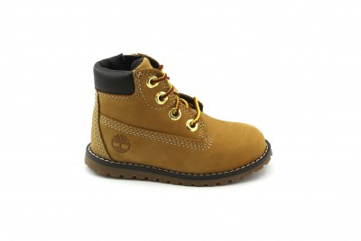 TIMBERLAND A125Q orange scarponcino bambino zip pokey pine 6in
