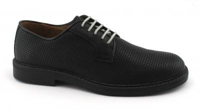 nuovo concetto 0c0a3 477ef IGI&CO 1105177 nero scarpe uomo derby sportive eleganti pelle intrecciata