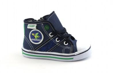 54246d8378b19e PRIMIGI 1445800 blu scarpe bambino alte zip lacci tessuto