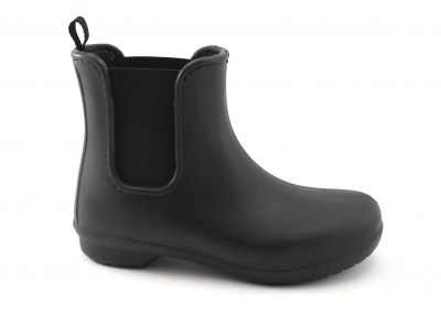 CROCS freesail chelsea boot 204630 black nero stiavaletto donna gomma