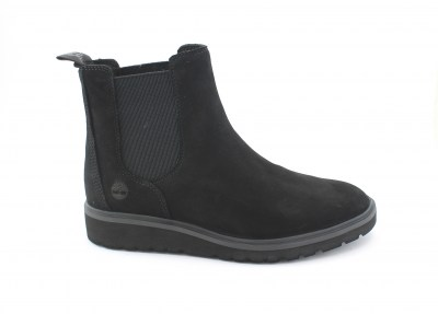 TIMBERLAND A1RGV black nero scarpe donna scarponcini beatles light