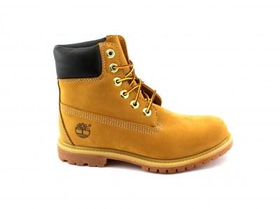 TIMBERLAND 23399 yellow giallo scarpe donna scarponcini pelle waterproof prem nellie wheat lacci
