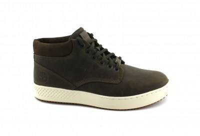 TIMBERLAND A1S5Y olive verde scarpe sneakers mid uomo lacci nabuk