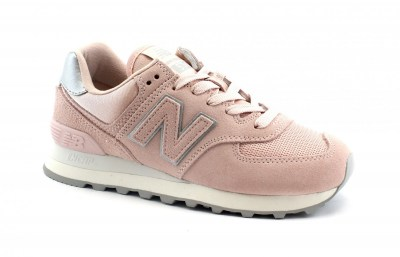 NEW BALANCE WL574 OPS rosa scarpe donna sneakers lacci