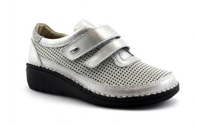 1cf62cc720cc7b GRUNLAND INES SC3530 grigio scarpe donna comfort strappi plantare estraibile