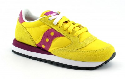 SAUCONY S1044-364 JAZZ ORIGINAL yellow giallo rosa scarpe donna sneakers