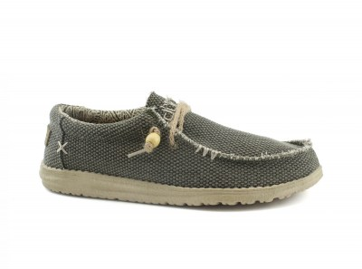 HEY DUDE WALLY BRAIDED scarpe uomo sneakers slip on lacci
