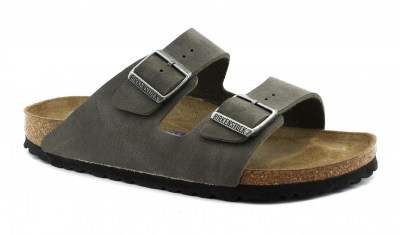 BIRKENSTOCK ARIZONA 0452313 brushed emerald green grigio ciabatte uomo soft