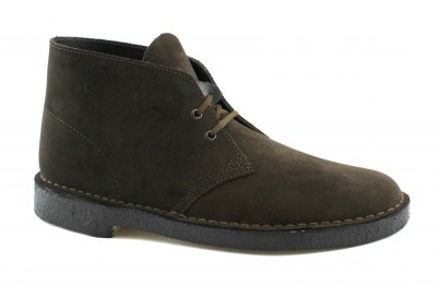 CLARKS ORIGINALS 26138229 DESERT BOOT G Fit brown suede scarpe uomo polacchini