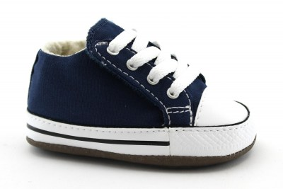 CONVERSE 865158C CHUCK TAYLOR navy blu scarpe snakers bambino culla all star mid lacci