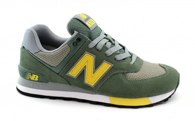 NEW BALANCE  ML574  FNE verde  scarpe uomo sneakers lacci lifestyle running