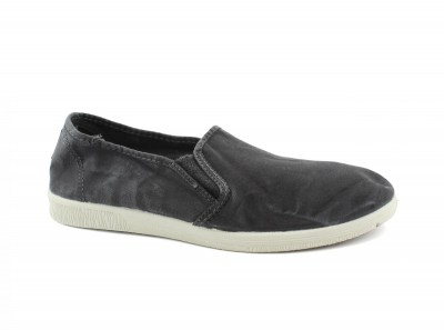 NATURAL WORLD scarpe Uomo Slip on Elastico Cotone Bio plantare estraibile eco vegan shoes