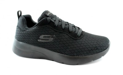 SKECHERS 12964 EYE TO EYE black nero scarpe sneakers donna memory foam
