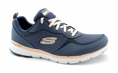 SKECHERS 13069 GO FORWARD slate pink blu scarpe donna sneakers lacci lite weight memory foam
