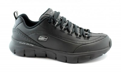 SKECHERS 13260 SYNERGY 3.0 black nero scarpe donna memory foam air cooled pelle flex elite