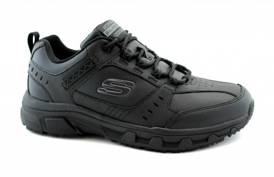 SKECHERS 51896 REDWICK black nero scarpe uomo sneakers lacci relaxed fit memory foam