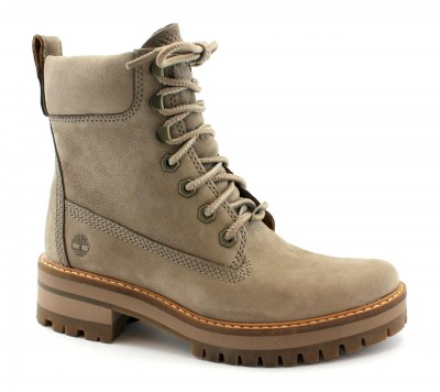 TIMBERLAND A1RQX COURMAYEUR VALLEY taupe scarpe donna scarponcini pelle