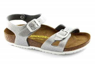 BIRKENSTOCK RIO 0831783 24/34 silver grigio sandali ragazza magic galaxy