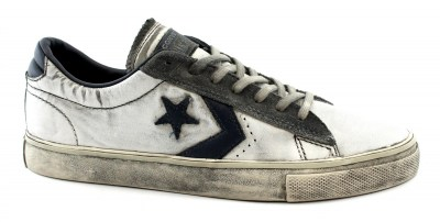 CONVERSE 156932C PRO LEATHER  white navy sneakers unisex pelle lacci