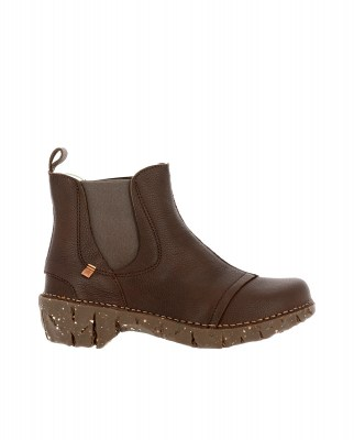 El Naturalista N158 SOFT GRAIN BROWN / YGGDRASIL Stivaletto Donna Marrone Elasticizzato