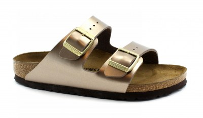 BIRKENSTOCK ARIZONA BS 1012972 electric metallic taupe ciabatte donna fibbie