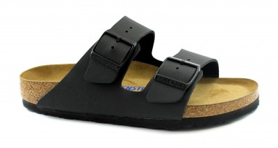 BIRKENSTOCK ARIZONA BS 551253 black nero ciabatte donna fibbie