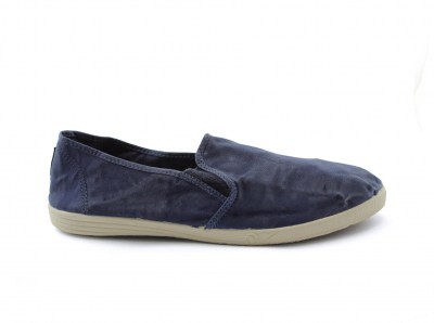 NATURAL WORLD scarpe Uomo Slip on Elastico Cotone Bio plantare estraibile vegan shoes