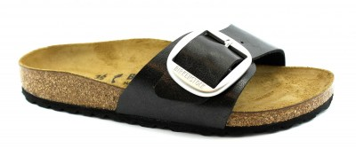 BIRKENSTOCK MADRID BIG BUCKLE graceful  Licorice nero ciabatte donna fibbia