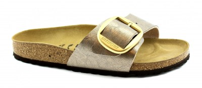 BIRKENSTOCK MADRID BIG BUCKLE graceful taupe marrone ciabatte donna fibbia