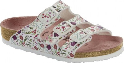 Birkenstock 1014323 Florida meadow flowers white, Birko Flor Bianco
