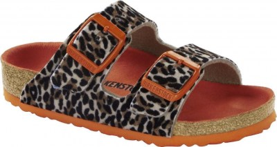 Birkenstock 1014681 Arizona leo lilly brown-orange, Textile Marrone