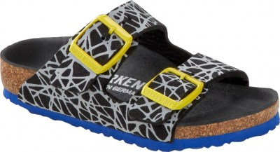 Birkenstock 1015456 Arizona reflective tech black, Microfibre Nero