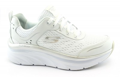 SKECHERS 149023 WSL INFINITE MOTION white silver scarpe donna memory foam relaxed fit