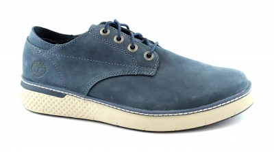TIMBERLAND A264S CROSS MARK OXFORD dark blue blu scarpe uomo sneakers pelle lacci