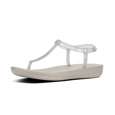 Fitflop iQUSION SPLASH - PEARLISED - BACK-STRAP SANDALS - URBAN WHITE es