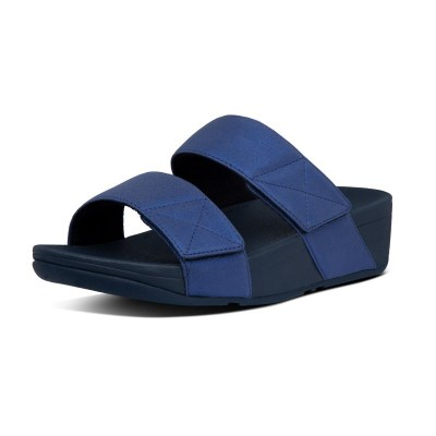 Fitflop MINA SHIMMER SLIDES - MIDNIGHT NAVY