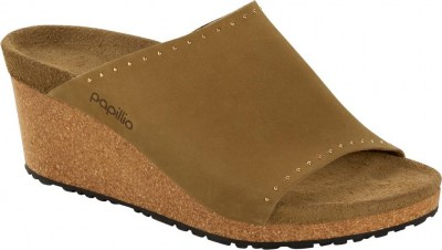Birkenstock 1017612 Namica mud green rivets, Nubuck Leather Verde