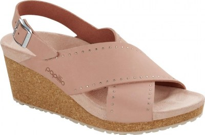Birkenstock 1017622 Samira crystal rose rivets, Nubuck Leather Rosa