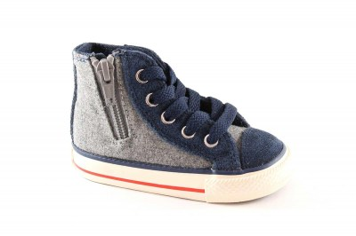 CONVERSE 746380C grey ct side zip scarpe bambino all star mid