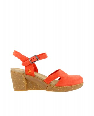 Art Company 1672 SKIN BACK CORAL/ ROTTERDAM Sandals With Heel Woman Coral Buckle